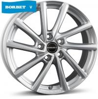 Литые диски Borbet V (crystal silver) 7x18 5x114.3  ET 38 Dia 67.1
